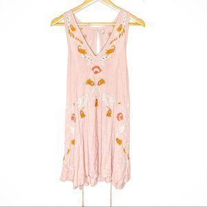 NWT Free People Adelaide Pink Floral Slip Dress